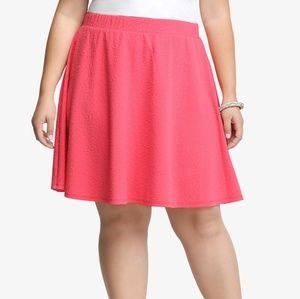 TORRID size 2 (20/22) Pink textured skater skirt